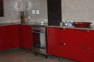 Red kitchen, Featherbrooke  3